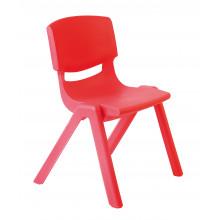 Židlička plastová červená