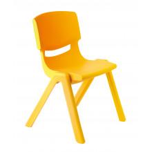 Židlička plastová žlutá